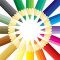 Pencils circle Royalty Free Stock Photography