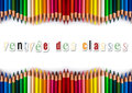 Pencils color back to shool in french concept Stock Photos