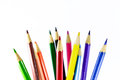 Pencils color pencil on white background Stock Images