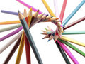 Pencils Color spiral original form Royalty Free Stock Photo