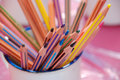 Pencils in a cup Royalty Free Stock Images