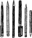 Pencils doodle Royalty Free Stock Photo