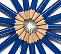 Pencils Forming A Sun Stock Images