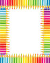 Pencils frame or border Royalty Free Stock Photo