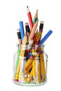 Pencils in Glass Jar Royalty Free Stock Photography