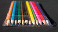 Pencils in its packet photo of color Stock Images