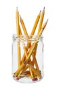 Pencils in Jar Royalty Free Stock Photo