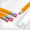 Pencils & paper Stock Photo