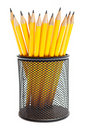 Pencils in pencil holders Royalty Free Stock Image