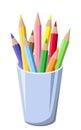 Pencils in a pot.