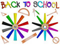 Pencils school banner Stock Photos