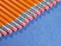 Pencils staggered on a diagonal Stock Image