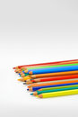 Pencils on the white background Royalty Free Stock Image