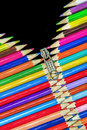 Pencils zip cool abstract open Royalty Free Stock Images