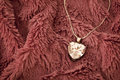 Pendant beautiful heart shaped sparkly Stock Images