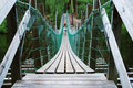 Pendant bridge, Juuma, Finland Royalty Free Stock Image