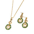 Pendant and couple of earrings Royalty Free Stock Photo