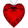 Pendant heart shaped red in the shape of made in d with clipping path Royalty Free Stock Image