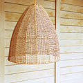 Pendant Light With Wicker Lamp...