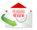 Pending review e mail illustration design over white Royalty Free Stock Photo