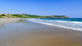 Pendower beach cornwall england on the roseland peninsual uk Royalty Free Stock Photography