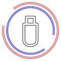 Pendrive sign illustration, usb icon Royalty Free Stock Photo