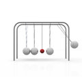 Pendulum ball move against the others Stock Image