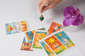 pendulum and divination card Royalty Free Stock Photo