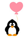 Penguin with balloon vector illustration Stock Image