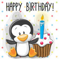 Penguin with cake