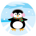Penguin Chrismas Stock Photo