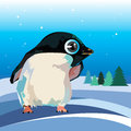 Penguin cute illustration vector cartoon white