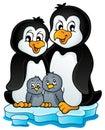 Penguin family theme image 1 Royalty Free Stock Photo
