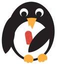 Penguin with icecream Royalty Free Stock Photo