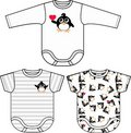 Penguin pattern baby clothing Stock Photography