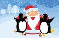 Penguin santa Στοκ Φωτογραφίες