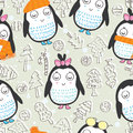 Penguin seamless pattern eps illustration of in cold this file info version illustrator document inches width height document Stock Photo