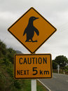Penguin sign Royalty Free Stock Photo