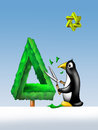 Penguin Topiary Stock Photography