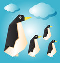 Penguin vector illustration of family Royalty Free Stock Photos