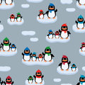 Penguins on the ice floes