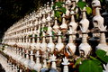 Pengzhou china dagoba burial urns at ci ji temple hundreds of miniature white the buddhist in Royalty Free Stock Images