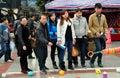 Pengzhou, China: De Chinese het Spelen Worp van de Ring Royalty-vrije Stock Foto