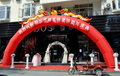 Pengzhou, China: Dragon Arch at Store Opening Stock Photography