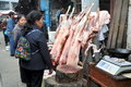 Pengzhou, China: Shopping for Fresh Lamb Royalty Free Stock Photography