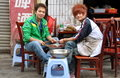 Pengzhou, China: Two Restaurant Workers Stock Photos