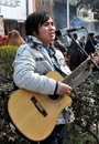 Pengzhou, China: Young Musician Singing Royalty Free Stock Photography