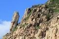 The penis rock volcanic column in sai kung geological park of hong kong Royalty Free Stock Photos