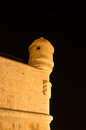 Peniscola castle wall night shot of spain Royalty Free Stock Images