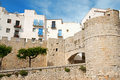 Peniscola fortified walls, Spain Stock Photos